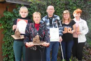 Участники праздника-конкурса Ю. Терешко, Ж. Протас, М. Валентик, В. Белоус и Т. Гасюль (слева направо).