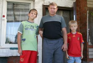 И. Косаревский с сыновьями Ильёй и Вадимом.