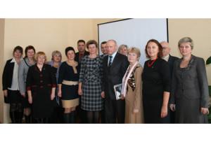 Участники  конференции. В центре - Т. В. Севалкина и В. А. Денисов.