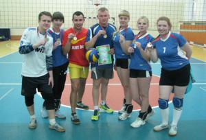 Команда Бигосовского сельского Совета, занявшая первое место по волейболу.