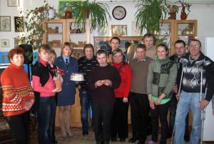 Воспитанники отделения с гостями из Верхнедвинского таможенного поста.