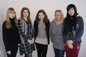 Слева направо Е. Калбеко, Е. Ольсевич, К. Садовская, М. Корбит, О. Быкова.