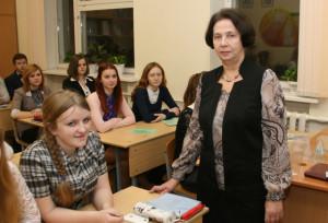 Л. А. Яковлева со своими учениками.
