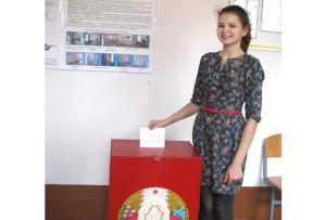 Свой выбор делает кандидат  в  Молодежную  палату - гимназистка Диана Вашкевич.