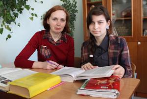 Татьяна Червонец с учителем С. С. Ринцевич.