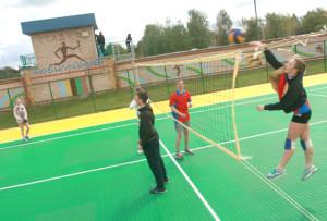 Спортсмены с удовольствием   соревновались на новой площадке.