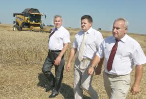 Верхнедвинский район посетили председатель Палаты представителей НС Республики Беларусь Владимир Андрейченко и председатель Витебского облисполкома Николай Шерстнёв