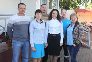 (Слева направо) В. О. Быков, Е. А. Палённая, А. М. Ершов, Е. Н. Крук, В. В. Замбер, Т. И. Васюкович.