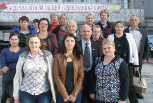 Делегация Дёрновичского сельского Совета, в центре - председатель Ч. Г. Войтеховский.