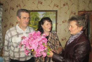 В Борковичах поздравили семейных юбиляров