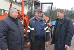 Слева направо: А. П. Щербаков, И. И. Почёпко, М. В. Роговский.
