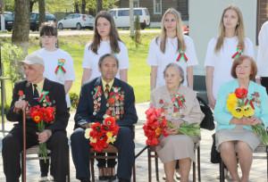 В Верхнедвинске торжественно отпраздновали День Победы
