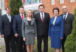Слева направо: В. К. Казуро, П. П. Лавринов, С. С. Ринцевич, И. И. Маркович, И. Ф. Козел, А. З. Махмудов.