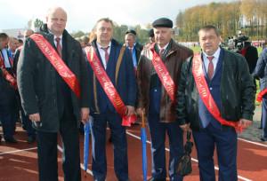 Победители жатвы-2016 Михаил Гумненков,  Виктор Дадеко, Владимир Лапковский, Василий Косов.