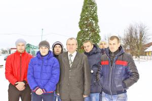 С. П. Валкович с призывниками.