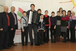 В Верхнедвинске провёл мастер-класс «золотой аккордеон» Беларуси