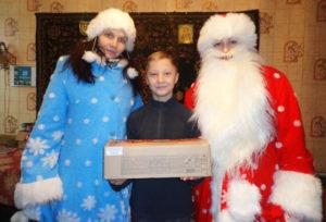 Ребятишки получили подарки от Белорусского детского фонда