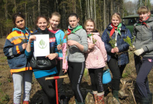 Верхнедвинские школьники участвовали в акции по посадке леса