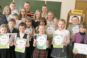 В Сарьянской школе прошёл конкурс чтецов
