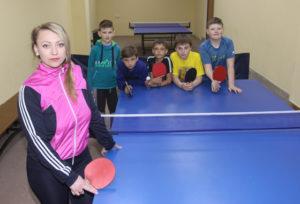 Инна Черноок с воспитанниками.