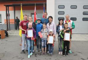 В Верхнедвинском РОЧС прошли соревнования семейных команд