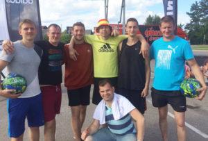 Верхнедвинская команда достойно выступила на соревнованиях по стритболу.