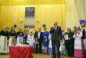 Гаспадароў і гасцей свята з юбілейнай сустрэчай віншуе Язэп Дабкевіч.