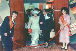 Церемония бракосочетания в 1991 году.