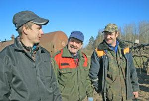 Злева направа: Д. Разбінскі, С. Лось, Л. Дашчонак.
