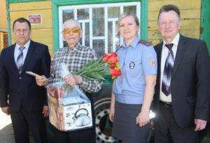П. Е. Боярина поздравили начальник РОВД Д. Г. Новиков, заместитель начальника О. С. Андреева, председатель ветеранской организации В. С. Эрдман.