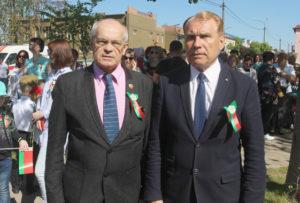 Злева направа: С. В. Собалеў, А. В. Шаркоў.