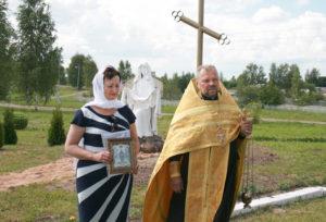 В Верхнедвинском районе появилась статуя Богородицы