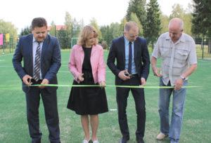 В Верхнедвинске открылась новая мини-футбольная площадка