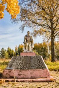Памятник погибшим воинам в д. Дубровы.