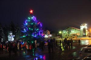 В Верхнедвинске зажглась новогодняя иллюминация