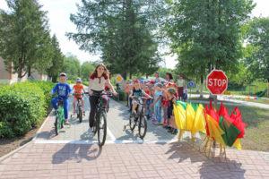 В велопробеге в Верхнедвинске участвовали малыши